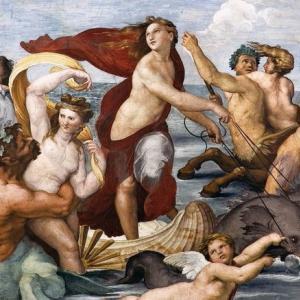 古代ギリシャ神話テーマとしたラファエロのフレスコ画の傑作