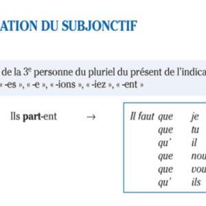 フランス語 接続法