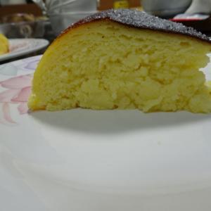 炊飯器でスフレチーズケーキ作ったけど~焦げた!