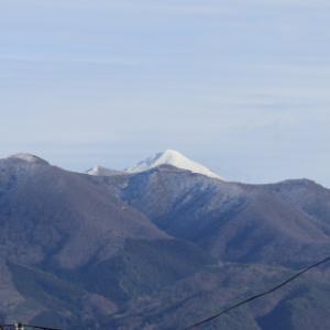 磐梯山に雪が降りました