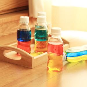 モンテッソーリ・バイカラーボトルを作ろう!色の分離・混合が学べます