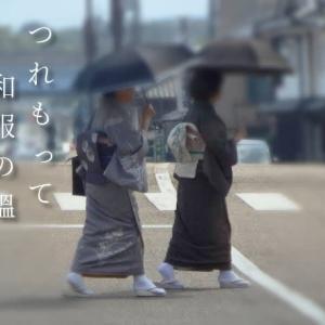 連れもって和服の媼秋日傘