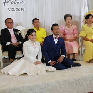 バンコクで親戚の結婚式