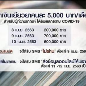 タイのフリーランス休業補償貰った人が金持ちで炎上
