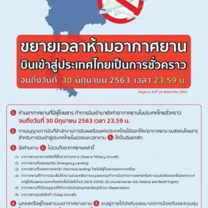タイの着陸禁止措置は6月30日まで延長