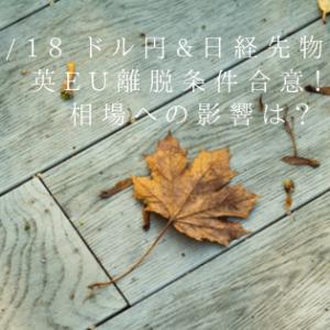 10/18 ドル円&日経先物予想 英EU離脱条件合意!?相場への影響は?