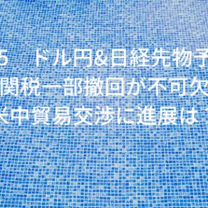 11/15 ドル円&日経先物予想 米の関税一部撤回が不可欠!?米中貿易交渉に進展は?
