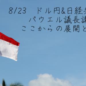 8/23 ドル円&日経先物予想 パウエル議長講演!ここからの展開とは!?