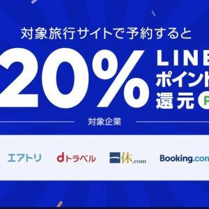 ライン トラベル 20%還元キャンペーン