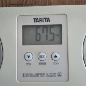 今日の体重計