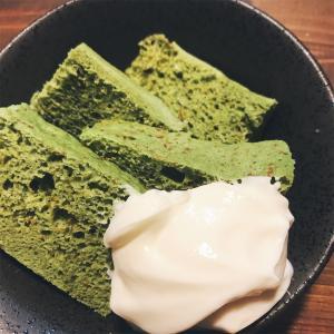 【糖質オフレシピ】抹茶味のプロテインおから蒸しパン!