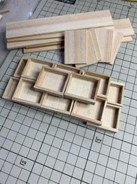 時間がなくてもミニチュア家具(チェスト)の木材の切り出しに励む!
