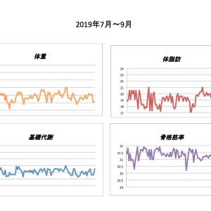体組成記録(2019年7月〜9月)