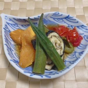 【ヘルシオ】グリルレシピ「揚げない野菜の焼き浸し」