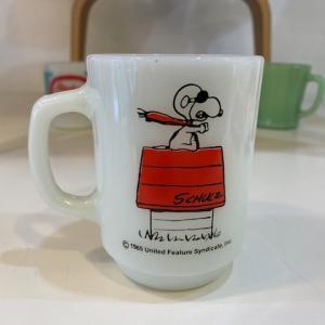 希少!Fire King Snoopy Red Baron&Stuckey's COFFEE CLUB 入荷しました!