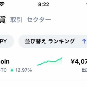 【暗号資産】ビットコインが400万円超で過去最高値を更新
