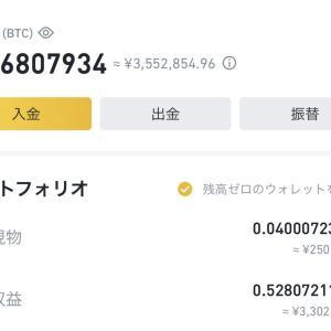【暗号資産】1億円を目指し百万円勝負 2021/5/6 上昇