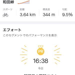 和田峠~裏甲武トンネルclimb