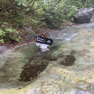 カムイワッカ湯の滝 【 知床半島 】 天然大温泉!