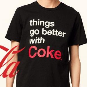 guメンズM 390円 コカコーラTシャツを買いました。(どこも売りきれ)