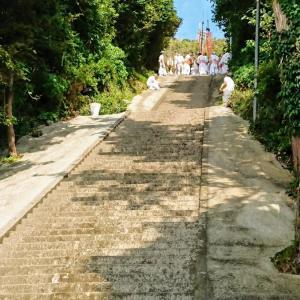 148段の階段から神輿が降ってきた!? 南房総ここは外せない祭りのスポット 2、洲崎神社の祭礼