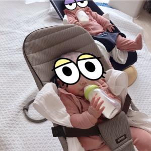 【ミルク】哺乳瓶の底まで舐め回す