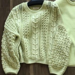 アクリル100%のセーターを綿100%のセーターに買い替え。
