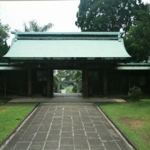桃園神社の拝殿と本殿(桃園県忠烈祠)(台湾桃園)