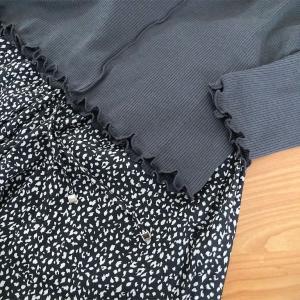 新しい春服と黒蜜きな粉たい焼き。