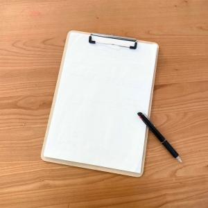 学校のプリント整理!100均のクリップボード&クリアファイルが便利です。
