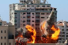 イスラエル。ガザ地区を空爆。