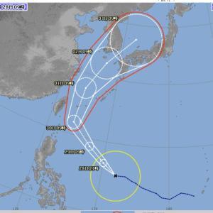 台風18号接近 2019.09.28