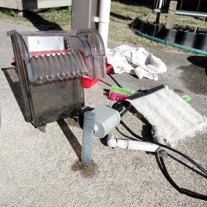 水槽の濾過器の掃除