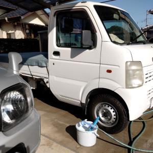 軽トラの洗車