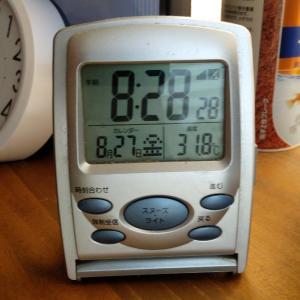 今日も暑いぞ、朝から暑い