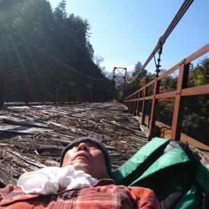 六厩川橋で寝転んでみた