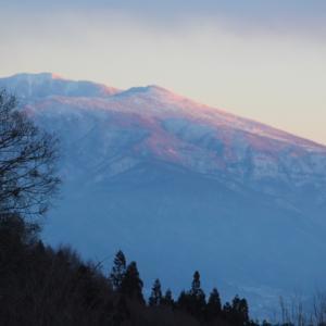 根子岳の日暮れ
