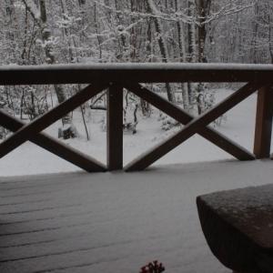 雪降りです