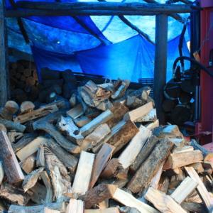 春の薪作り~効率の良いマシン割
