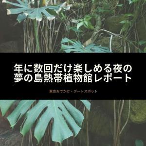 【東京】年に数回だけ楽しめる夜の夢の島熱帯植物館レポート