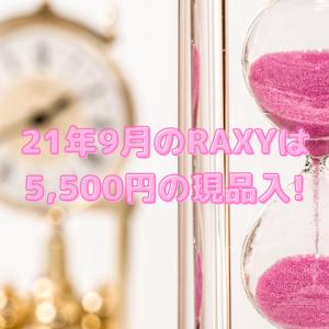 【5,500円の目元クリーム現品】2021年9月のRAXYは久々によかった祭