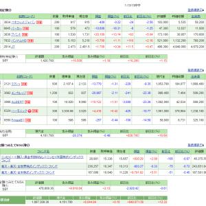5/13の損益・PF(-3,241円)