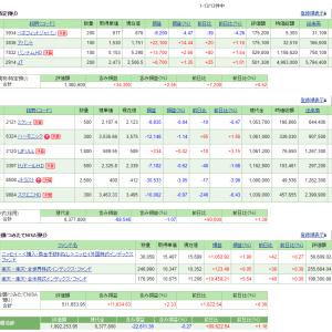 5/14の損益・PF(-3,491円)