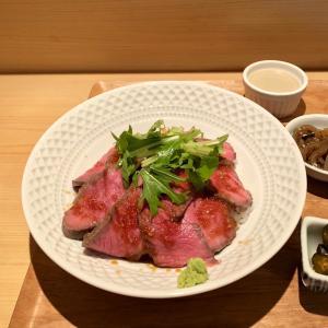 元浅草 「小料理 東山」で、和牛ローストビーフ丼のランチ
