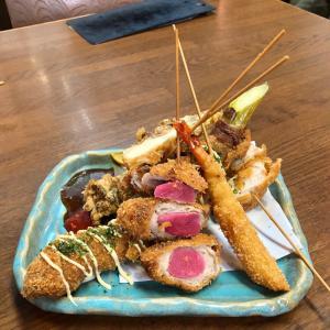 川崎 「フルミチ」の前に「登利亭 」で、やきとりと串揚げを♪