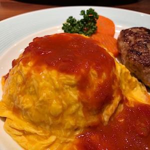 「丸の内ディンドン」でオムライス&ハンバーグステーキ