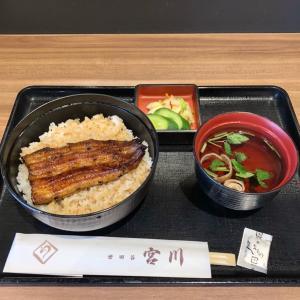 鰻「宮川」とサンマー麺&天津飯「南国酒家」をフードコードで♪