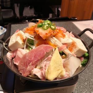 「きしや」のキムチチゲ鍋でスタミナ補給