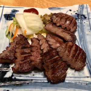 「肉匠の牛たん たん之助」の特上厚切り牛たん定食と牛たん・ハラミ2種盛り定食