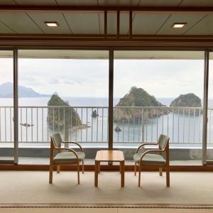 伊豆・堂ヶ島温泉「ホテル天遊」 駿河湾の三四郎島を一望のお部屋